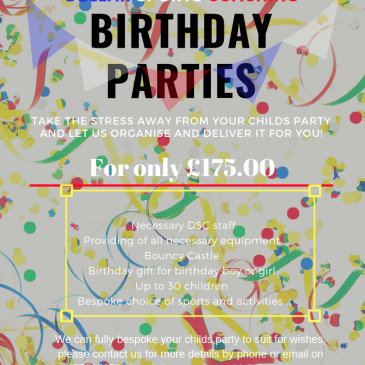 BIRTHDAY PARTIES!